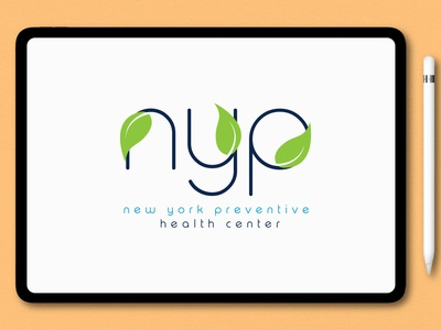 NYP watercolor typography signature logo design illustration branding logo unique modern logo design