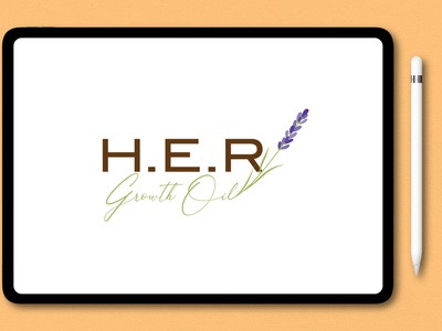 H.E.R Logo design icon watercolor signature logo logo branding unique illustration modern logo design