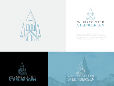 WijkRegister SteenBergen Logo vector design illustration branding logo unique modern logo design
