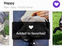 Petfinder pet details interaction