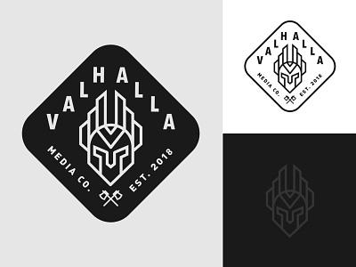 Valhalla / Final Logo typography vector design branding illustration logo