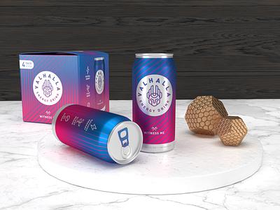 3D Scene Practice gradients design 3d photoshop illustrator soda can energy drink packaging dimension