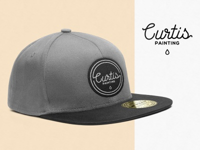 Painting Logo / Concept 2 baseball hat baseball cap illustration illustrator design logo branding panting paint