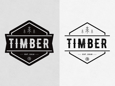 Timber Logo Concept illustration branding logo