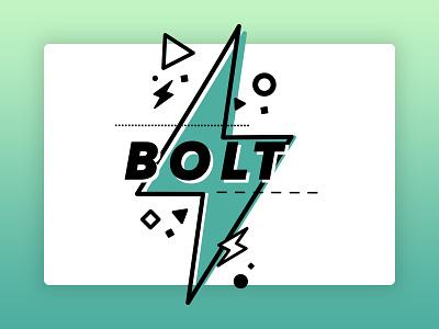 Bolt Illustration mark logo gradients illustration
