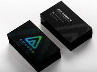 Aurora Logo and Business Card