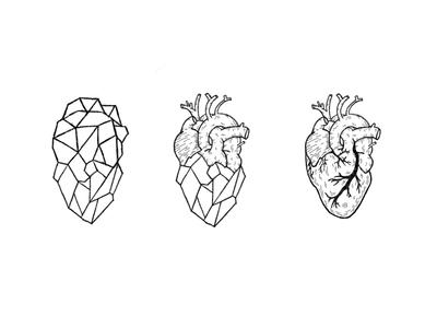Heart Tattoo polygon heart procreate illustration tattoo