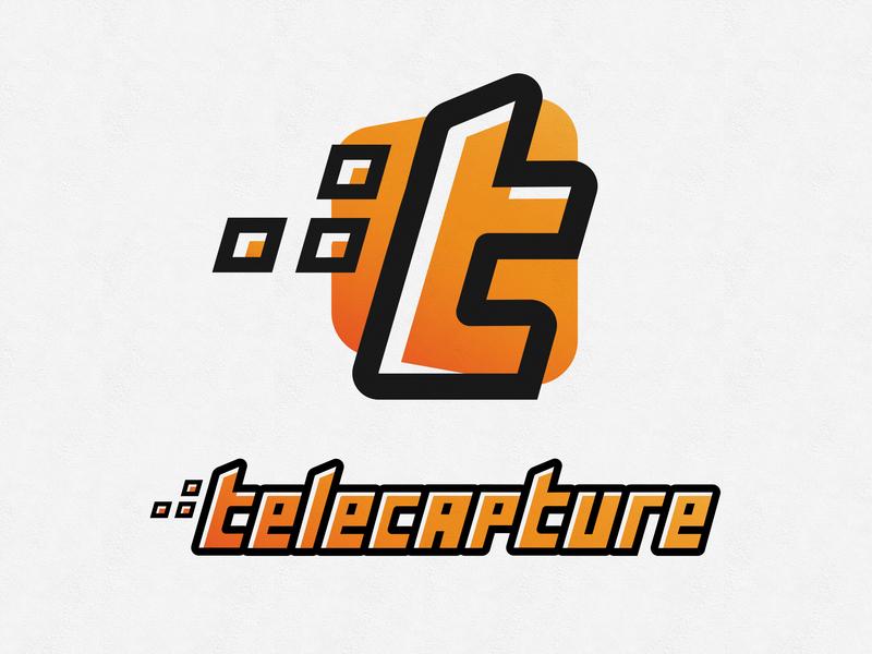 Telecapture Concept typography vector gradients branding illustration logo