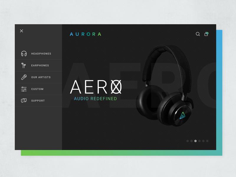 Aurora Site Exploration web ux typography design logo branding gradients web site illustration ui site