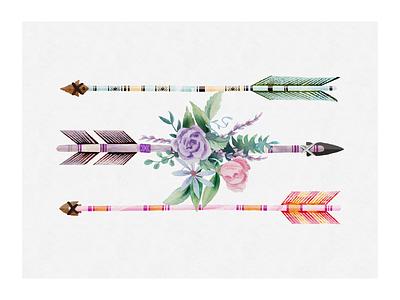 Aurrow's Print spring flower vector illustrator print arrowhead arrow