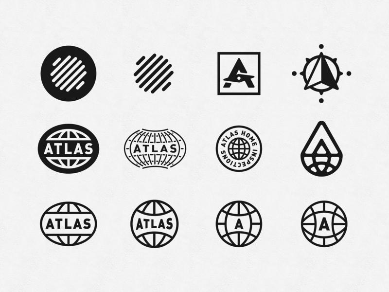 Atlas Logo Concepts compass world globe branding logo atlas