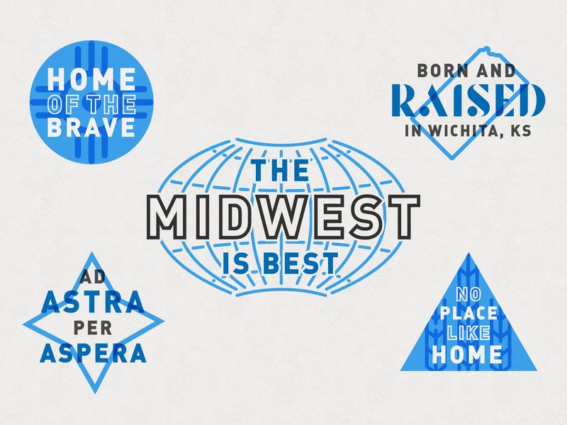 Local/Hometown Marks midwest illustration wichita kansas local marks branding