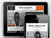 Responsive theme - Daily Bulletin