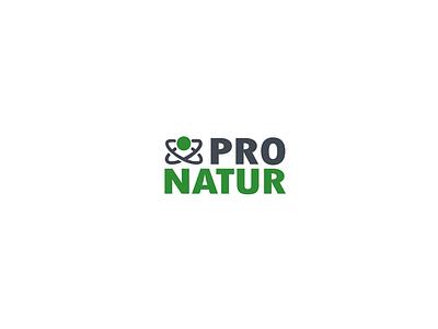 ProNatur logo student slovak graphic  design vector design illustrator nature logo logo design logotype logo a day logo alphabet minimalism simple grey green company brand logo company nature logo 2d logo