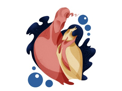 Intima erotic universe woman man illustration hug digital hair love couple intimacy
