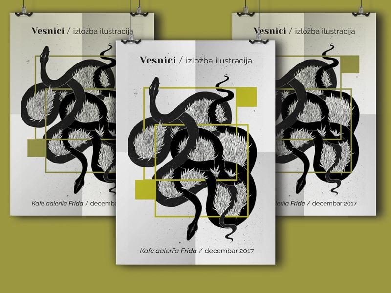 Exhebition Poster Design By Danica Dribbble Dribbble