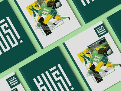 Sport themed magazine cover