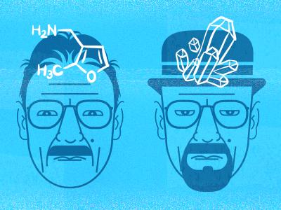 evolution of walter white breakingbad bb amc fanart crystalmeth portrait tv chemistry illustration walterwhite breaking bad