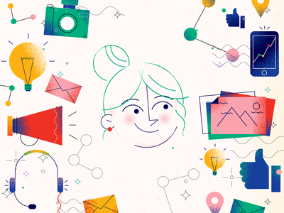 advertising brainstorm ideas ads envelope agency woman like photos phone girl camera advertising
