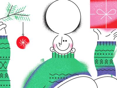 happy holidays festive girl gift sweater winter holidays christmas xmas