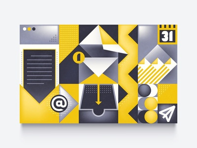 Abstract Email App illustration grid illustration app inbox email geometric abstract