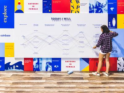 Coinbase Grace Hopper 2019 grace hopper crypto poster wall thread wall events