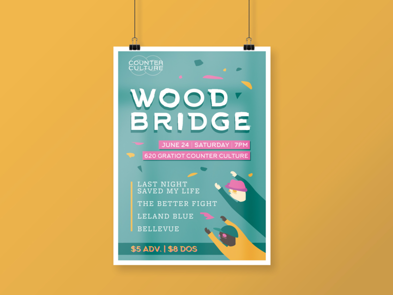 Woodbridge Gig Poster art poster design posterdesign bands poster art poster gig posters gig poster
