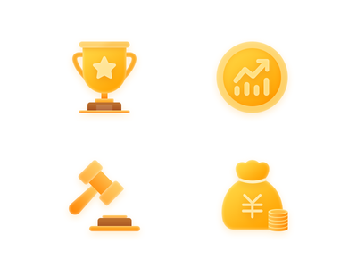 Flat illustrations gold coin wealth trading earnings up trophy icon ai illustration