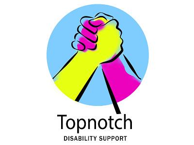 Topnotch Disability Support logo brand and identity branding photoshop logo design logo design brand identity