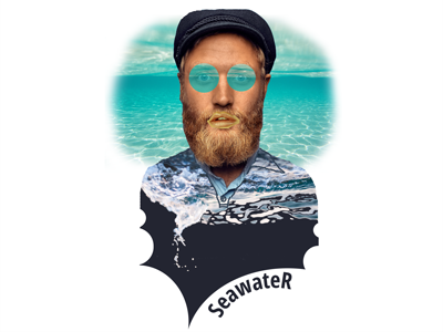 SeawateR creation design photoshop brand identity logo design