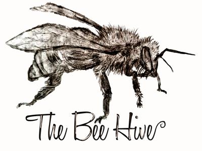 The Bee Hive brand identity brand bee creation sketch art logo design