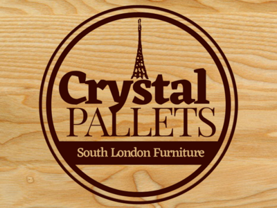 Crystal Pallets - Crystal Palace Pallet Furniture logo tower pallet furniture crystal palace london brand marketing branding graphic photoshop brand identity design logo