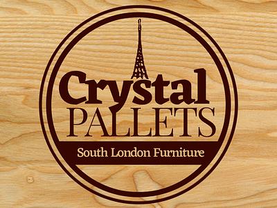 Crystal Pallets - Crystal Palace Pallet Furniture logo tower pallet furniture crystal palace london brand marketing branding graphic photoshop brand identity design logo