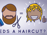 Who needs a haircut?