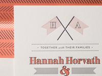 Letterpress wedding designs