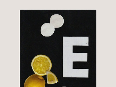 fizzy scissors magazine collage lemon typographic collage