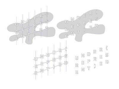Early (under)REPRESENT(ed) branding clean typography branding exhibition design