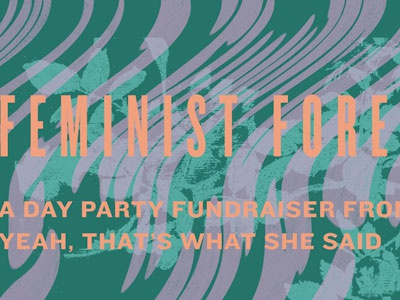 Feminist Foremothers layering graphic typography distortion floral