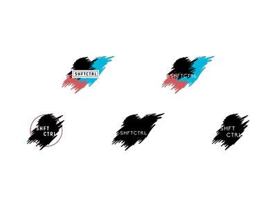shftctrl brand exploration logo scratchy branding