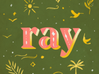 Ray - lettering