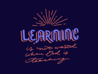Learning Is Not Wasted - lettering