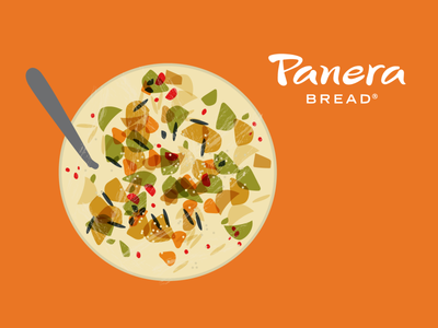 Panera Soup Illustration