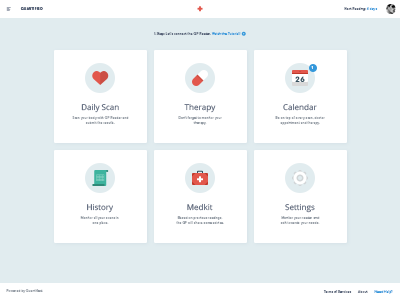 Quantified Dashboard (WIP)  dashboard ui ux flat medical web design user interface clean app web application