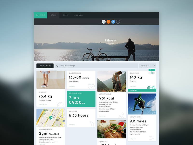 Quantified Dashboard - Fitness