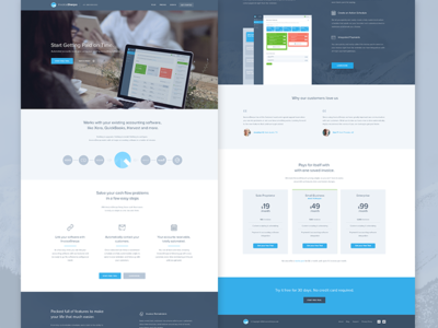 Invoice Sherpa Homepage Redesign