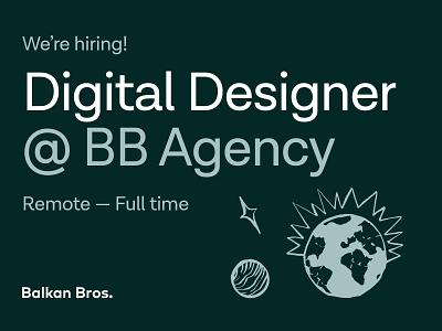 BB Agency - Hiring Designers! website bbagency join digital designer graphic design ux ui work agency web design product design position job hiring