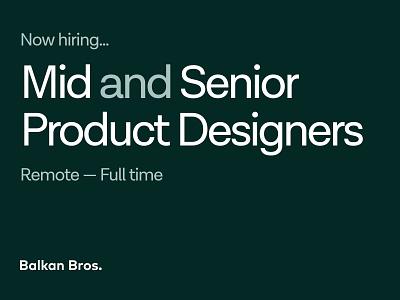 BB Agency is Hiring Product Designers! brand logo branding user interface user experience join us ux ui jobs design job product design digital agency agency hiring