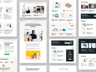 Justuno - Resources branding web website design user experience user interface ux ui saas b2b marketing post edit wordpress cms guides events webinars blog articles resources