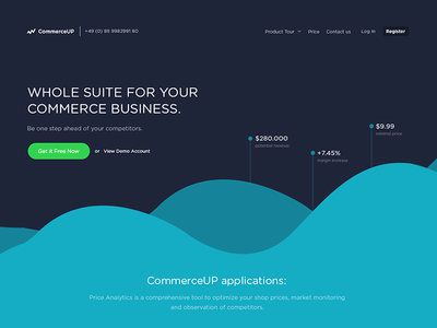 Commerce Analytics Homepage - WIP