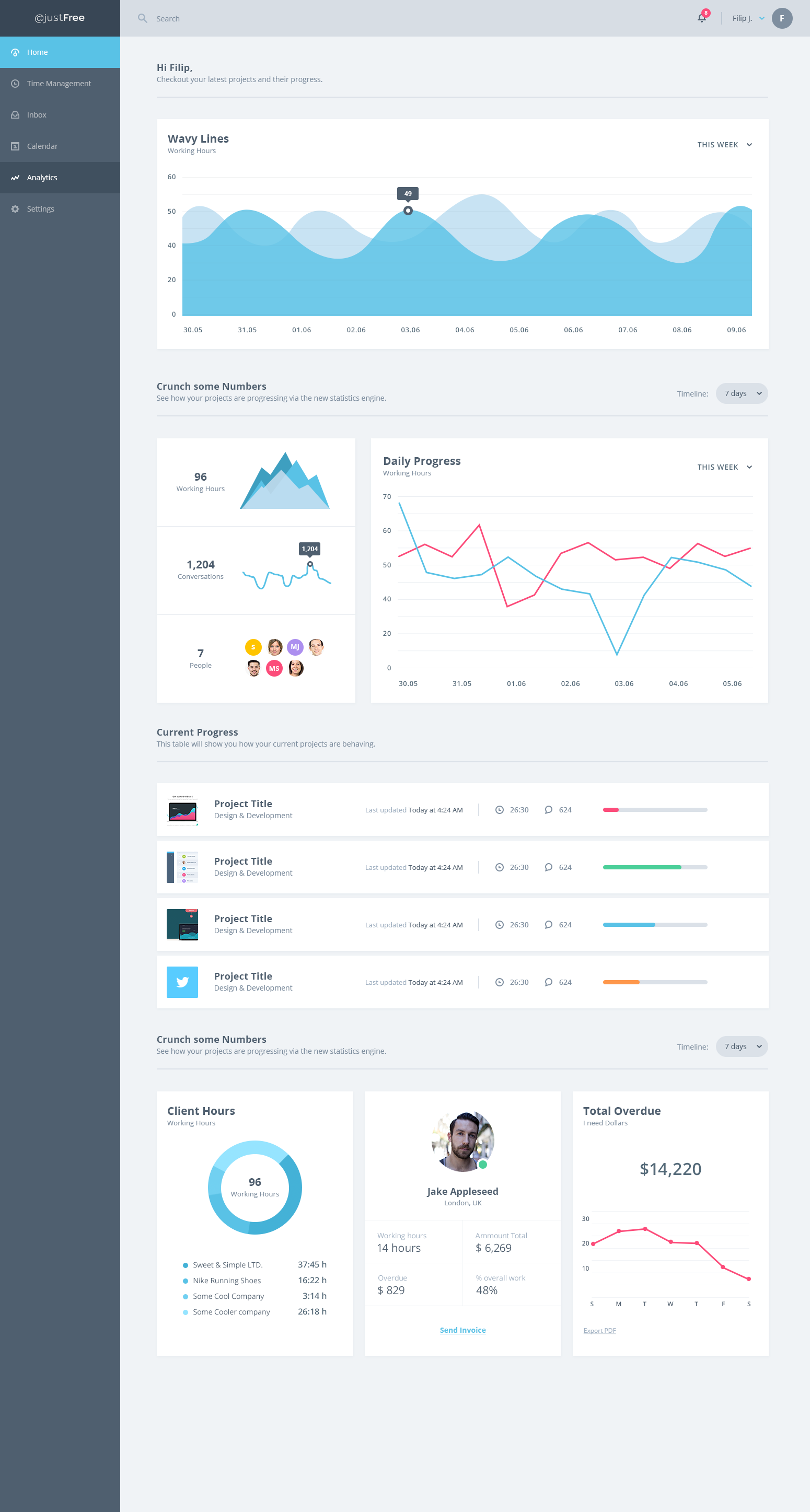 Dashboard   minimal ui kit style